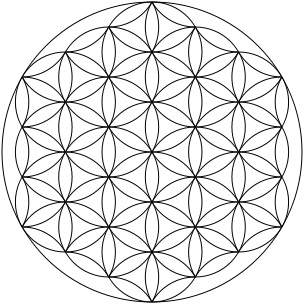 The Seed of Life becomes the Flower of Life: I Am that I Am: the continual creation of life from out of the Eternal Presence of God: When we breathe with awareness we access the universal creative pattern of life.