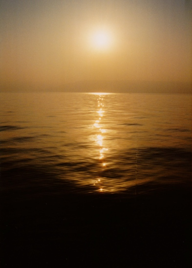 Dawn on the sea of Galilee