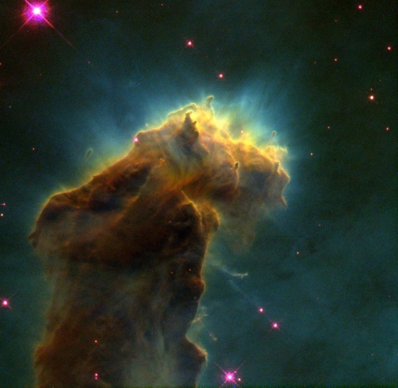 Star birth cloud - Hubble images