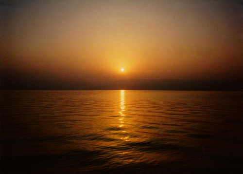 Dawn on the Sea of Galilee.