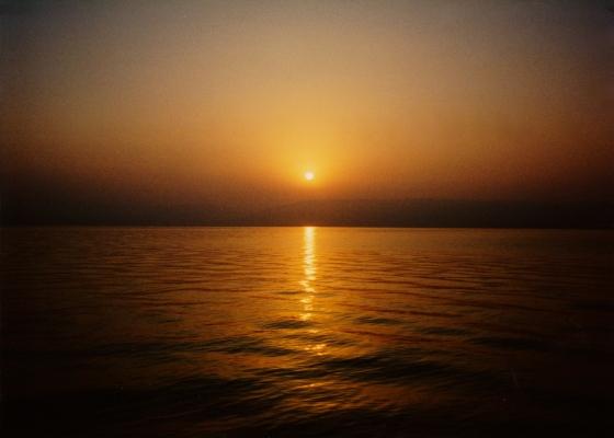 Dawn on the Sea of Galilee.