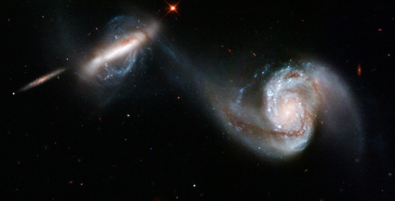 hs interacting galaxy pair