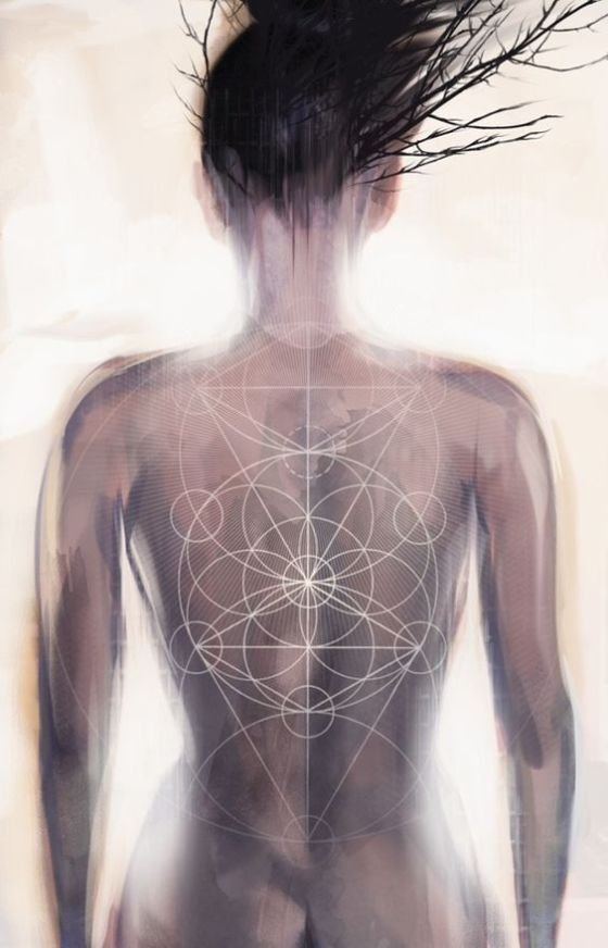 artwork by Melissa Martinez called Getting to know the Tree of Life, sacred geometry.